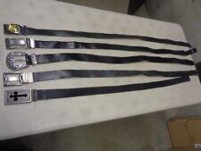 Lot of 5 Men's Belts: Guess, Calvin Klein, Belt Shak, Tiger of Sweden etc