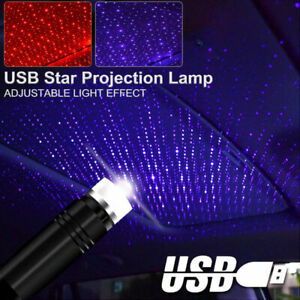 HOT USB Car Auto Atmosphere Interior Violet Star Light LED Projector Starry Lamp