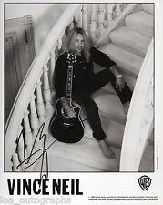 Vince Neil hand SIGNED 1995 solo promo photo JSA COA Motley Crue