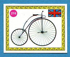 SPRINT '72 - PANINI - Figurina-Sticker n. 216 - BICICLO A PEDALI - GBR 1869 -Rec