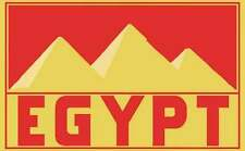 EGYPT   1950's  Vintage Looking   Travel Decal Sticker Luggage Label