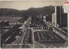 CARTOLINA DI LA SPEZIA VIALE ITALIA E GIARDINI 1954 6-190