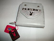 Playboy Crystal Eye Silver bunny Gray Wallet NEW Authentic - PA2655-GRY