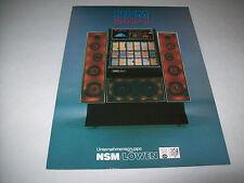 Nsm 240 I Original Jukebox Sales Flyer Brochure Phonograph Fold-Out