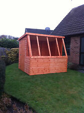 6x6 Potting Shed Quality Wooden Pent Greenhouse Super Value Without Glazing