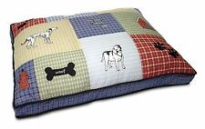 Petmate QUILTED APPLIQUE DOG BED Mattress Large Removable Cover- 69x92cm