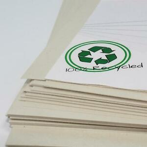 A3 100% Recycled White Sugar Paper 25 A3 Sheets Large Sheets Backing Easel Art