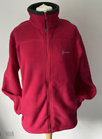 BERGHAUS Thermal Pro Fleece Full Zip Jacket Size UK 16 In Red Women's Ladies