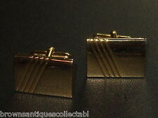 MENS GENTS LARGE GOLD PLATED RETRO CUFFLINKS VALENTINES DAY GIFT IDEA FOR HIM UK