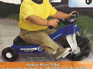 American Plastic Toys Police Cycle Mini Trike