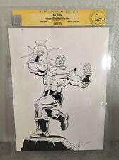 Jim Starlin Sketch Commission Thanos !! CGC SS 9x12 original artwork