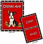 DOG DISHWASHER MAGNET (Boston Terrier) - Clean/Dirty *Ship FREE
