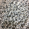 100 x 6mm WHITE Letter O Alphabet Beads, Pony Beads, Dummy Clips