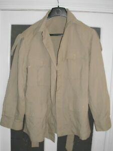 POST WW2 RAF BRITISH ARMY TROPICAL COTTON JACKET & TROUSERS IN ISSUED CONDITION