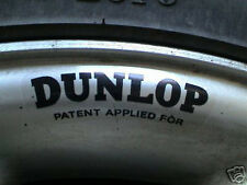 DUNLOP Wheels Patent Applied For STICKERS Set of 4 Jaguar D E type Alloy & Wire