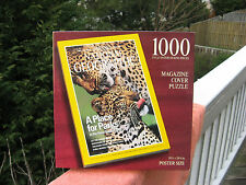 National Geographic Magazine Cover 1000 Piece Jigsaw Puzzle Leopards~New