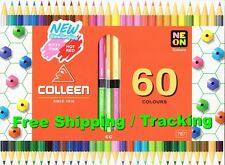 COLLEEN 30 Pencils 60 Multi Colors Double End 6 Neon