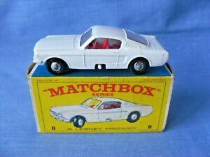 Moko Lesney Matchbox 8e Ford Mustang - Superb in Original Box - 1966.
