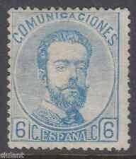 AMADEO I - * 119 - 6 c. azul - AÑO 1872 - NUEVO - PRECIO CATALOGO: 210 €UROS