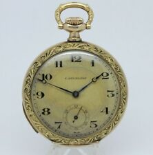 ANTIQUE C. Bucherer 14k Solid Gold Quarter Repeater Pocket Watch Park Watch Co.