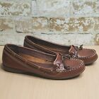Women's Sebago Docksides Brown Slip-on 9.5M Leather Boat Shoes