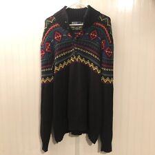 POLO RALPH LAUREN Aztec Sweater Men's 2XL XXL TRIBAL NATIVE INDIAN NAVAJO VTG