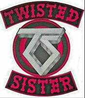 Twisted Sister Iron On Sew On Giant XL Back Patch