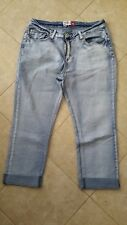 Amco Classic Denim Cropped Light Blue Jeans Size 12