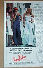 1977 vintage ad - Landlubber Jeans sportswear fashion CUTE girls PRINT ADVERT