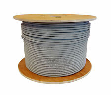 30m Cat6a 23 AWG Solid U/FTP LSZH Ivory Grey 100% Copper Data Cable 10gig