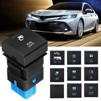 Dash Push Button Switch LED Light For Toyota Prado 150 Hiace Camry Corolla
