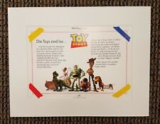 Disney TOY STORY 1995 Lithograph Print German Art Movie Woody Buzz Lightyear