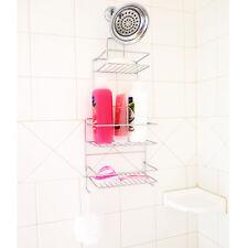 Evelots® Chrome 3 Tier Hanging Shower Caddy, Bathroom & Bath Tub Storage, Silver