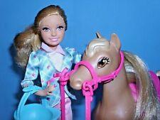 *Barbie Stacie mit Reirkleidung+Pferd*Barbie Schwestern im Reitabenteuer*