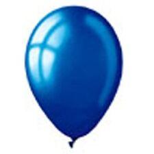 "Pack of 25 - 12"" Metallic Dark Blue Latex Balloons for Birthday, Decoration"