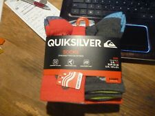 Kids Quick Silver 6 pairs pack Socks size 6-8  crew style assorted colors