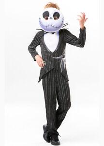 Kids Halloween Nightmare Before Christmas Jack Skellington Fancy Dress Costume