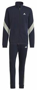 Adidas Men's Sport Tracksuit Sportswear Cotton Tracksuit Blue Beige