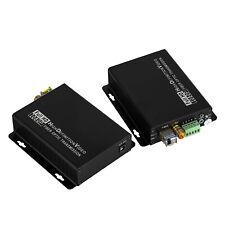 HD-SDI Fiber Converter LC Optical 3.5mm Audio Jack RS422 6.2miles Media Extender