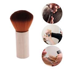 Wooden Handle Soft Natural Bristle Neck Face Duster Brush Hair Barber Salon LH
