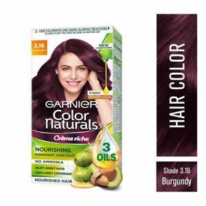 Garnier color natural cream hair color amonia free burgundy color pack 1X140
