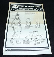 Marx Johnny West Adventure 1975 Princess Wildflower Instructions Original