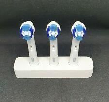 Zahnbürstenhalter für 3 Oral B Bürsten Bad deco aus Aluminium in Weiß