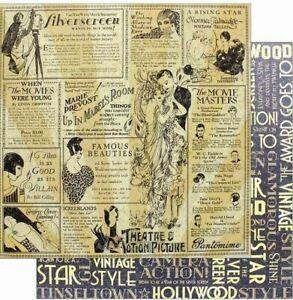"Graphic 45 Vintage Hollywood 8"" Cardstock U PICK Diva Glamour Screen Spotlight"