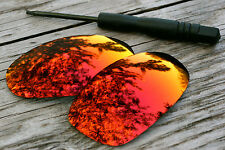 Fire Red / Orange Mirrored Polarized Sunglass Lenses for Oakley Juliet Dark Tint
