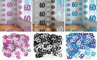 60th Birthday Decorations Hanging String Ceiling Party Room Wall Confetti Banner