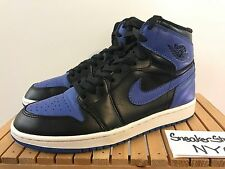 2013 Air Jordan 1 Retro High OG Black Royal Blue 555088 085 Mens US Size 8.5