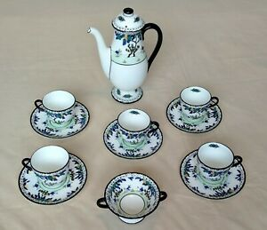 Lovely c1920s Art Deco style Royal Doulton china Coffee Set - Rd no. 702852 -