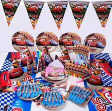 89Pcs Kids Pixar Cars McQueen Kid Birthday Party Supplies Tableware Decoration