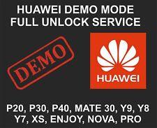 Huawei Demo Mode Full Unlock Service, All Models, P30, P40, Pro, Mate 30, P Smar